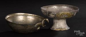 Two Greek silver vessels