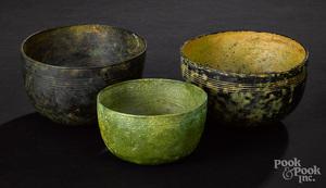 Three ancient Near Eastern bronze bowls