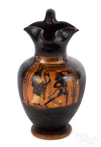 Attic black figure trefoil oinochoe