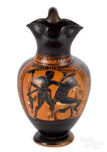 Attic black figure trefoil oinochoe