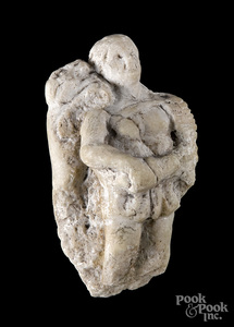 Small Roman marble figure of a gladiator