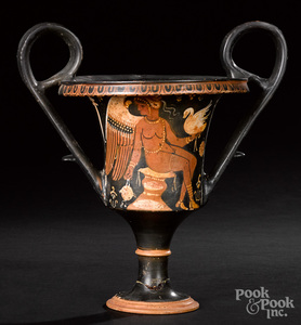 Apulian red figure kantharos