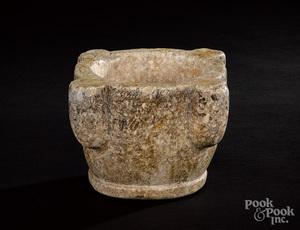 Medieval marble mortar