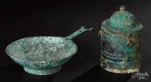 Two Medieval Islamic bronze vessels