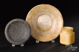 Three ancient stone vessels