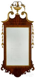 Federal mahogany and giltwood mirror