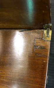Pair of Federal demilune card tables
