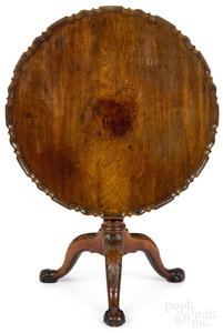 Important Philadelphia Chippendale tea table