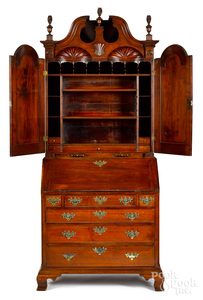 Pennsylvania or Southern desk and bookcase