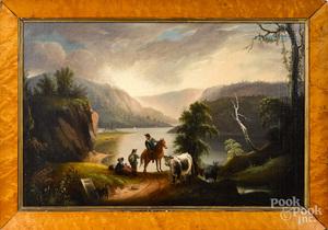 Attributed to Alvan Fisher, Hudson River landscape