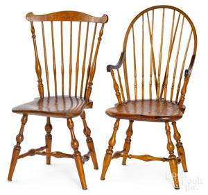 Connecticut fanback Windsor side chair, etc.