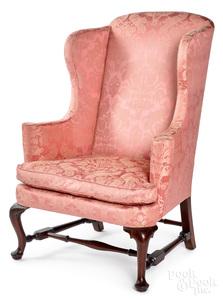 Massachusetts Queen Anne mahogany easy chair