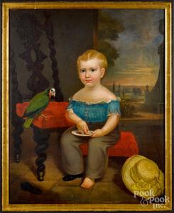 Osbert B. Loomis, oil on canvas portrait