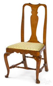 New England Queen Anne maple dining chair