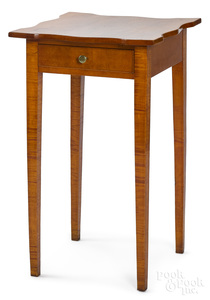Federal tiger maple one-drawer stand