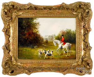 Robert Stone, pair of fox hunting scenes