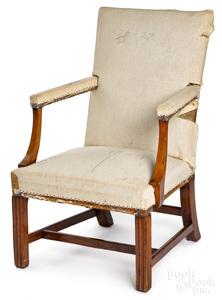 Rare Philadelphia Chippendale open armchair