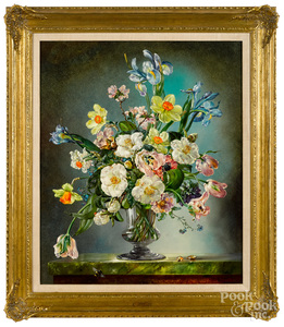 Cecil Kennedy, oil on canvas floral still life