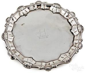 Georgian silver waiter