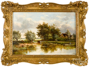 Joseph Thors, pair of country landscapes