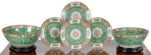 Chinese export porcelain bowls and plates