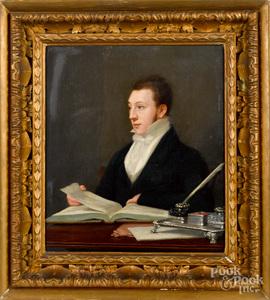 British oil on canvas portrait