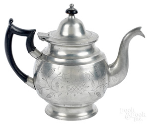 New York pewter teapot