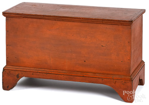 Child's Pennsylvania painted poplar blanket chest