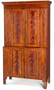 Pennsylvania or Ohio painted stepback cupboard