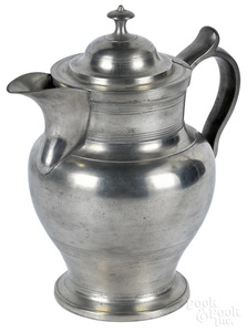 New York pewter ice water pitcher