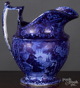 Historical Blue Staffordshire pitcher
