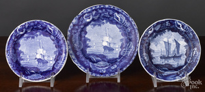 Historical Blue Staffordshire plates