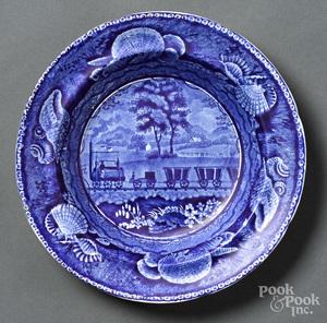 Historical Blue Staffordshire bowl