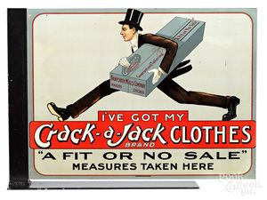 Crack-a-Jack Clothes advertising sign