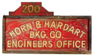 Horn & Hardart BKG. Co. Engineers Office sign