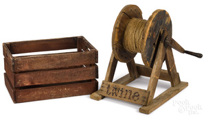 Primitive pine Twine country store rope winder