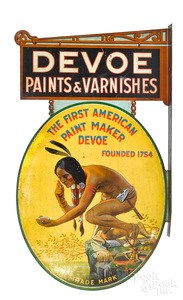 Scarce Devoe Paints & Varnishes advertising sign