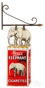 Bears Elephant Cigarettes advertising sign