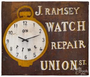 J. Ramsey Watch Repair - Union St. trade sign