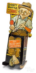 Blue-Jay Corn Plasters advertising display