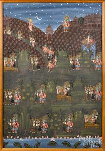 Tibetan painting on silk thangka