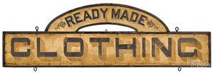 Painted Ready Made Clothing trade sign