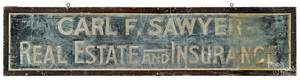 Painted trade sign