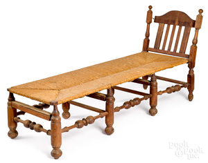 American William and Mary maple daybed