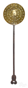 Wrought iron and brass straining ladle