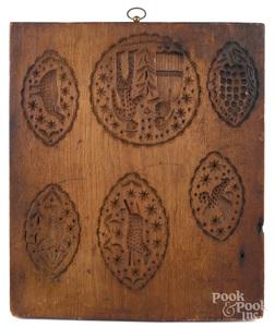 Carved walnut cakeboard