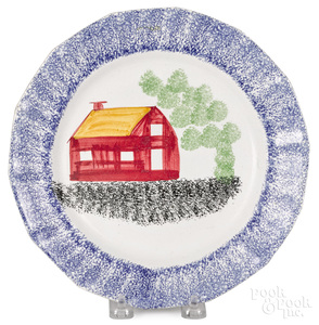 Blue spatter plate