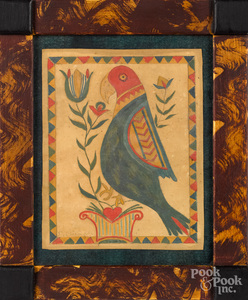 David Y. Ellinger, two watercolor frakturs