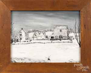 David Y. Ellinger, winter landscape