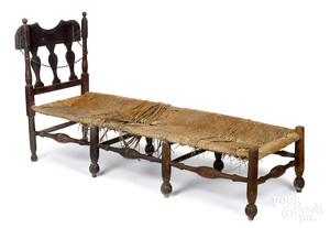 William and Mary maple daybed